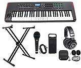 Novation IMPULSE 61-Key Ableton Live Keyboard Controller+Stand+Headphones+Mic