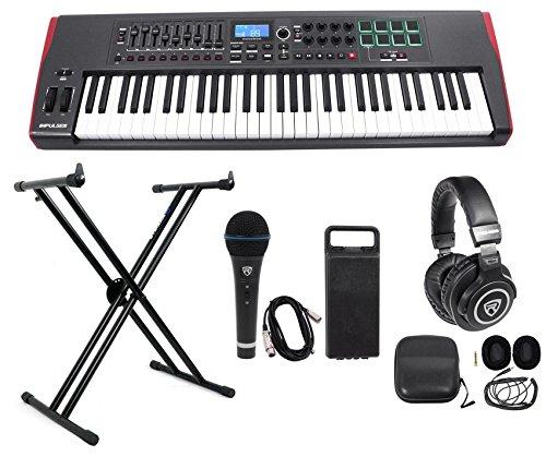 Novation IMPULSE 61-Key Ableton Live Keyboard Controller+Stand+Headphones+Mic by Novation