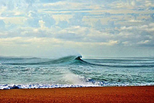 Rip Curl Wave Art-Artistic Look- 8 X 10 Metallic Print Artistic Waves