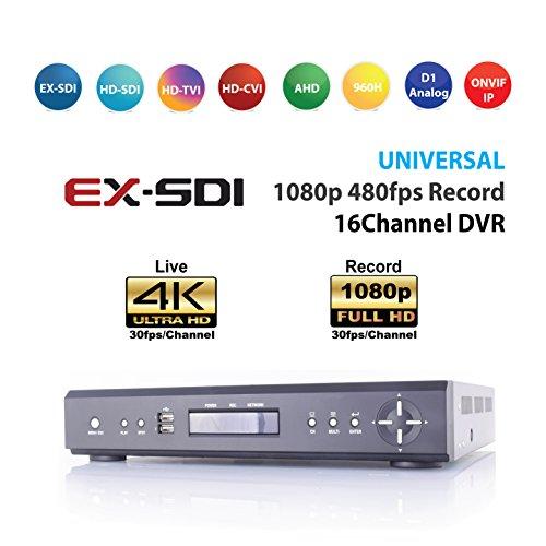 Sdi Digital Video - SDI DVR, Universal DVR (HD-SDI/EX-SDI/HD-TVI, HD-CVI, AHD, Analog, IP) 16CH DVR, 1080P Real-time Live/Record, 4K HDMI Display, P2P, RAID, Cloud Archive, SAM4S POS