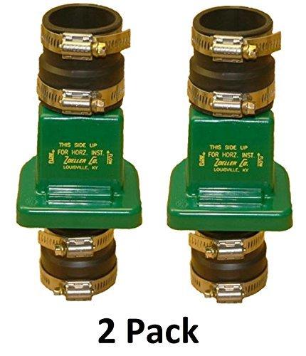 Pvc Check Valves Water - Zoeller 30-0181 PVC Plastic Check Valve, 1-1/2 Inch (2 Pack)