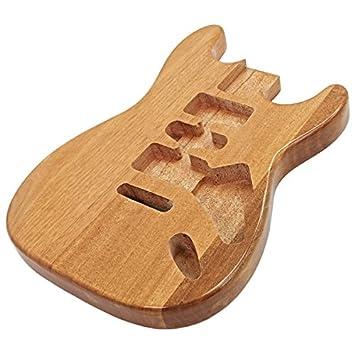 Cuerpo de Guitarra Eléctrica Caoba Natural: Amazon.es: Instrumentos musicales