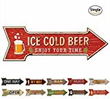 beer bar signs - HANTAJANSS Bar Signs with Enjoy Your Time Retro Ice Cold Beer Signs for Pub Decoration