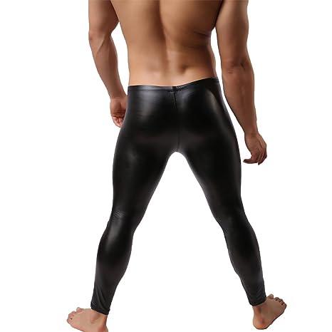GuangmingXi Pantalones largos de cuero de imitación de hombre Pantalones largos Ropa interior apretada John Clubwear tWhqEpZQ