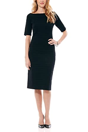 Laundry By Shelli Segal Off The Shoulder Sweater Dress Black L
