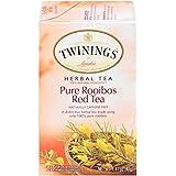 Twinings of London Pure Rooibos Herbal Red Tea Bags, 20 Count (Pack of 6)