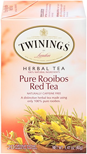 Twinings of London Pure Rooibos Herbal Red Tea Bags, 20 Count (Pack of 6) ()