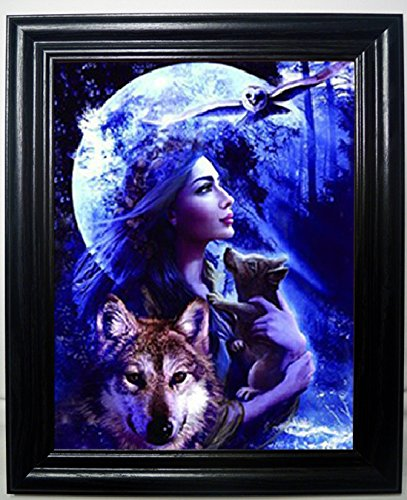 WOLF PRINCESS 3D FRAMED Wall Art--Lenticular