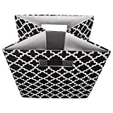 """DII Hard Sided Collapsible Fabric Storage Container for Nursery, Offices, & Home Organization, (13x13x13"""") - Lattice Black"""