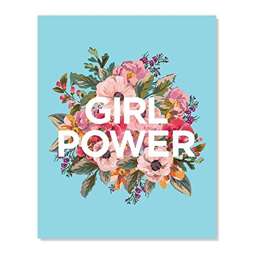 Girl Power Inspirational Wall Art Print for Work Office Deco