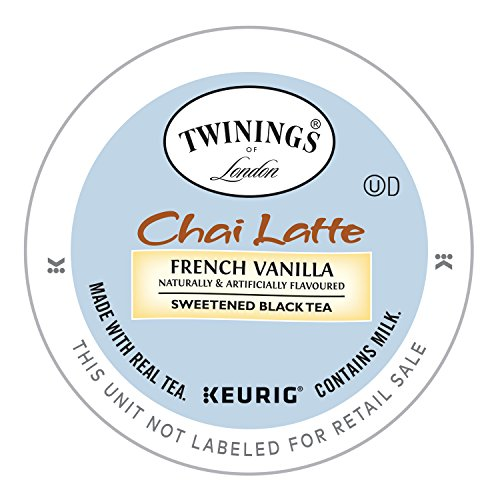 (Twinings of London French Vanilla Chai Latte K-Cup for Keurig, 12 Count)