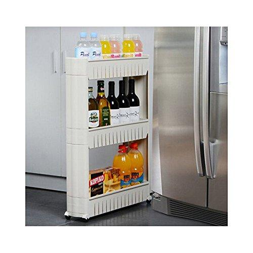 3Etagen Rolling Slide Out Storage Tower Küche Badezimmer oder Waschküche Rack Organizer mit Rad