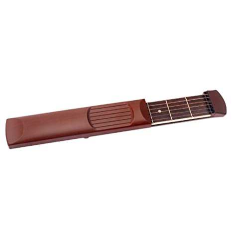 Exceart Práctica de Guitarra de Bolsillo Neck 6 Fret Herramienta ...