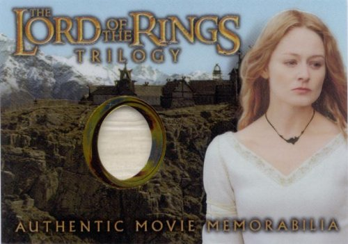 Lord of the Rings Trilogy Eowyns Golden Hall Dress Memorabilia Costume Card - Eowyn Costume