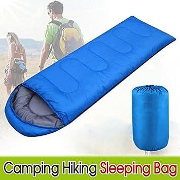 Yaheetech 1.8M Blue Camping Single Sleeping Bag Envelope Bag With Zip
