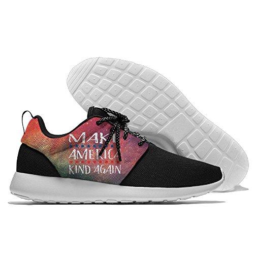 Creamyard Hombres Better America Malla Transpirable Deportes De Ocio Zapatos De Impresión Soft Sole Sports Zapatillas De Correr