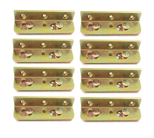 Antrader No-Mortise Bed Rail Bracket Heavy Duty Fittings Complete 8 covid 19 (Brass King Complete Bed coronavirus)