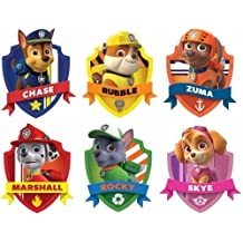 CAKEUSA Paw Patrol Stickers Paw Patrol Decals Birthday Cake Topper Edible Image 1/4 Sheet Frosting