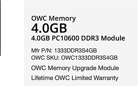 4GB RAM Upgrade for Toshiba Portege R830-2072UT DDR3 PC3-10600 SODIMM Memory PARTS-QUICK BRAND