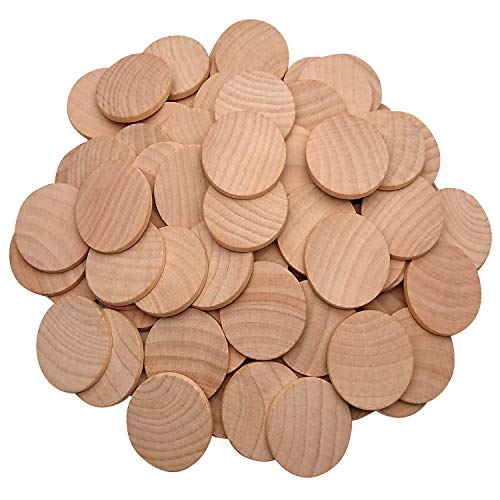(AxeSickle Natural Wood Slices 1.5 inch Unfinished Round Wood 50 pcs These Round Wood Coins for Arts & Crafts Projects, Board Game Pieces, Ornaments, The Limitations are Endless 50 per Pack.)