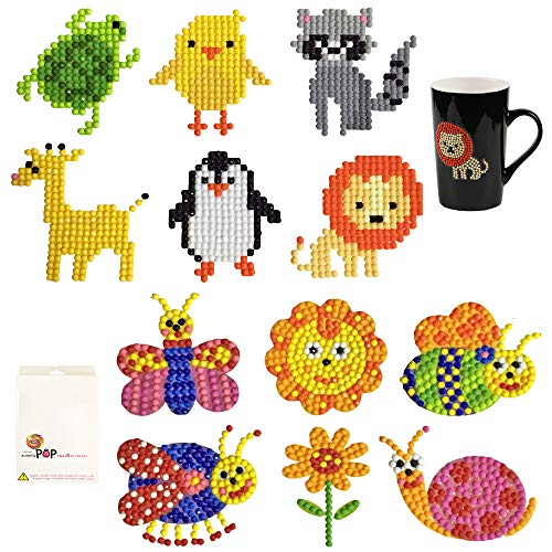 5D Diamond Painting Stickers Kits for Kids Diamond Painting Stickers Animal Diamond Dotz Big Size Paint with Diamonds Kits DIY Arts Crafts - 12 -