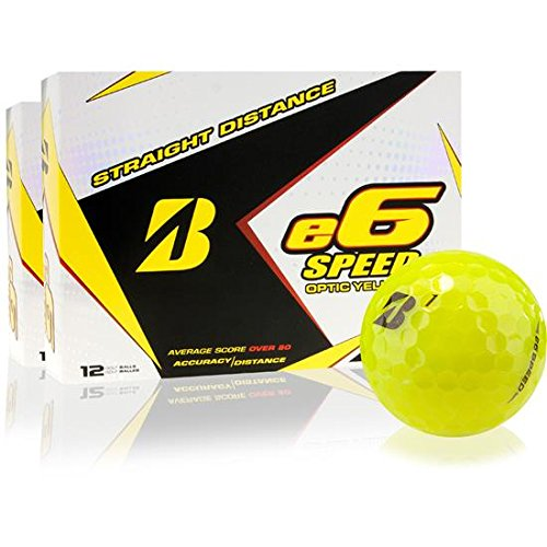Bridgestone e6 Speed Yellow Golf Balls - 2 Dozen by Bridgestone