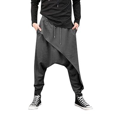 YiMiny 2019 - Pantalones de chándal para Hombre, con Borde ...