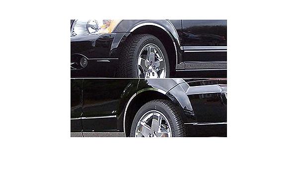 6p Luxury FX Chrome Fender Trim w//Gasket for 2007-2012 Dodge Caliber
