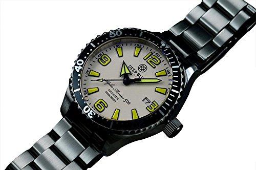 Auto Diver Watch (DEEP BLUE ALPHA MARINE 500 45mm AUTO DIVER WATCH 500m WR WHITE & YELLOW DIAL)