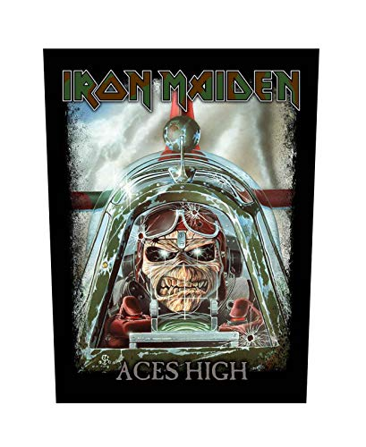 Iron Maiden Backpatch Aces High Eddie Band Logo Official 36Cm X 29Cm - Iron Maiden Jacket