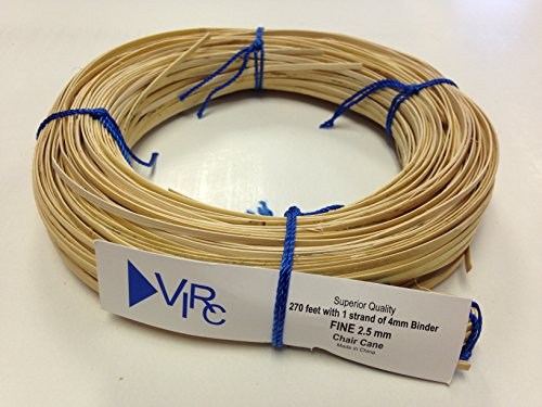 (Chair Cane Fine 2.5mm 270 ft coil with 1 strand 4mm Binder Cane)