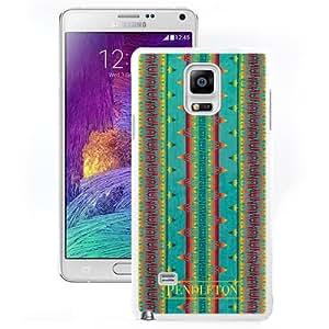 Pendleton 06 White Samsung Galaxy Note 4 Screen Cover Case Handmade and Custom Design