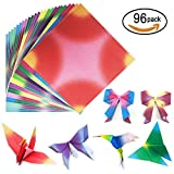 96 Sheets 12 Colors Square Origami Paper Folding Paper DIY Craft Paper Kid Gift,5.5 By 5.5 Inches