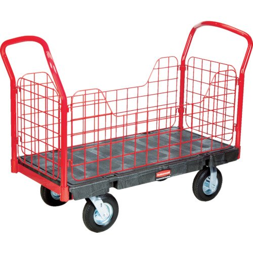 - Rubbermaid Commercial Side Panel Platform Cart, 2,000 lbs. Capacity, Black, FG448800BLA