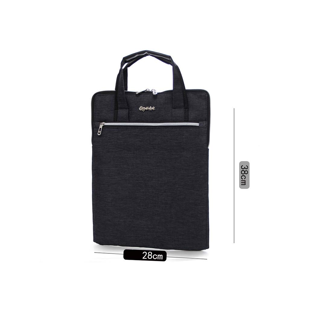 A4 Vertical Portable Document Bag Polyester Office Conference Bag File Bag 28x38cm (Color : A, Size : 28x38cm) by QSJY File Cabinets