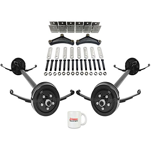 Tandem 3,500 lb Trailer Brake Axles - Running Gear Set w/Hanger Kit (95
