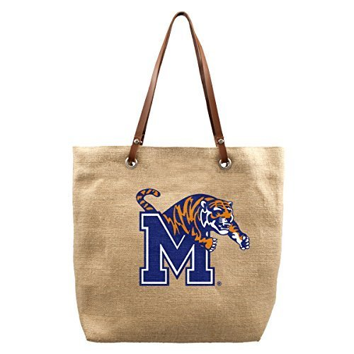NCAA Memphis Tigers Jute Markt Tote, 17 x 4,5 x 35,6 cm, Natural by Little Earth
