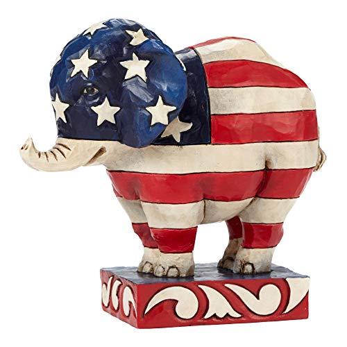 Patriotic Elephant - Jim Shore Patriotic Pride Republican Elephant Pint Size Figurine 4052077 HWC New