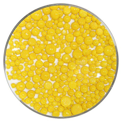 Sunflower Yellow Opalescent Frit Balls - 90COE, New Larger 1oz Size - Made from Bullseye Glass Bullseye Sunflower