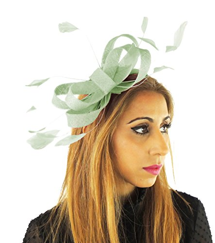 Hats By Cressida Ladies Wedding Races Ascot Derby Fascinator Headband Mint Green by Hats By Cressida