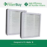 2 - Idylis Air Purifier Filter B. Idylis IAF-H-100B. Designed by FilterBuy to fit Idylis IAP-10-050 & IAP-10-125.