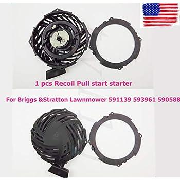 recoil pull starter for briggs & stratton 500e 140cc engine 591139 595355  usa