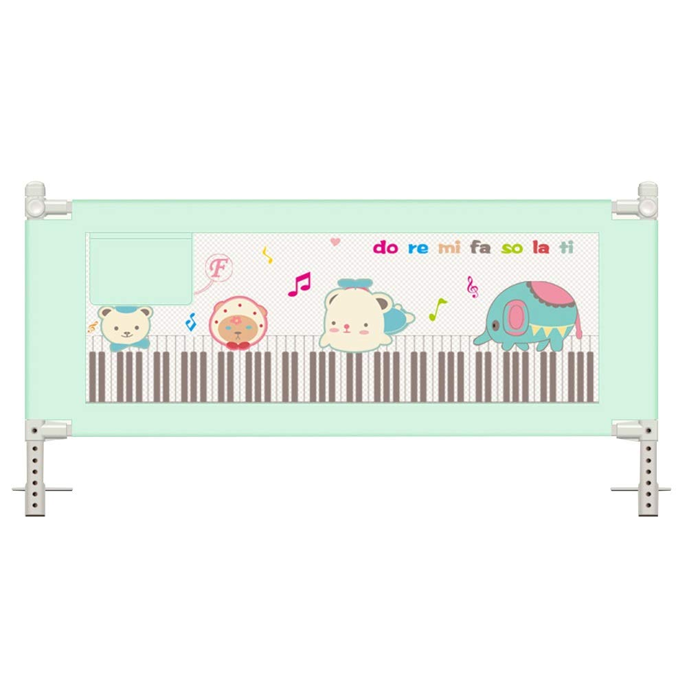 QFFL 幼児のためのベッドの柵、子供のための縦の上昇の折るベッド柵の監視1.5 / 1.8 / 2.0m(任意3色)険しい (Color : 3, Size : 2.0m) 2.0m 3 B07SX4W65L