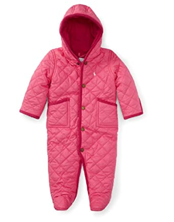 c822c1a90 Amazon.com  Polo Ralph Lauren Baby Boys  Quilted Bunting Snowsuit ...