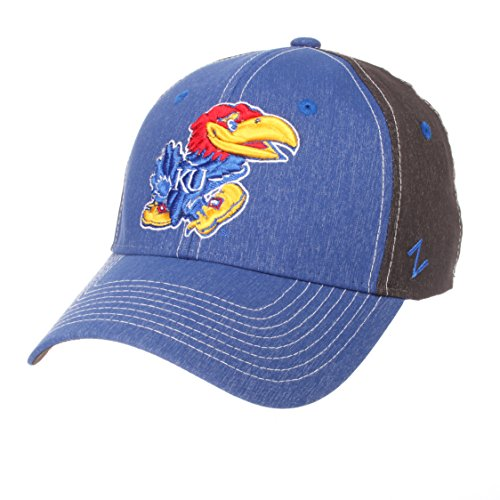- Zephyr NCAA Kansas Jayhawks Men's Dusk Hat, Medium/Large, Team Color/Dark Grey