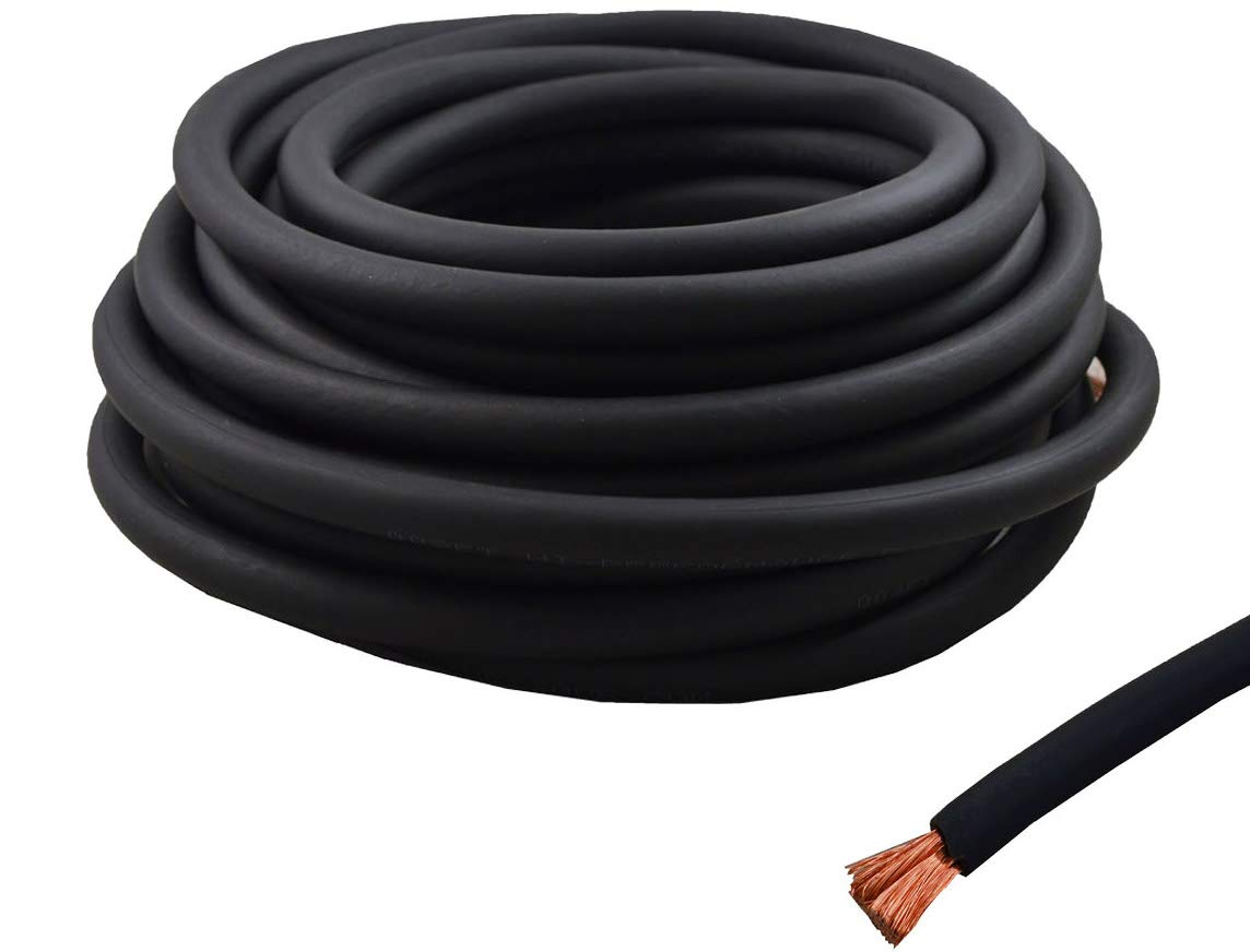 4 Gauge 25 Feet Wire High Performance Flexible Amp Power Ground Cable 4 AWG (Black)
