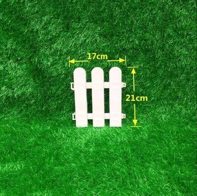 Tascoli 5pcs/Set Plastic Garden Fence Easy Assemble White European Style Insert Ground Type Plastic for Garden Countryyard Decor