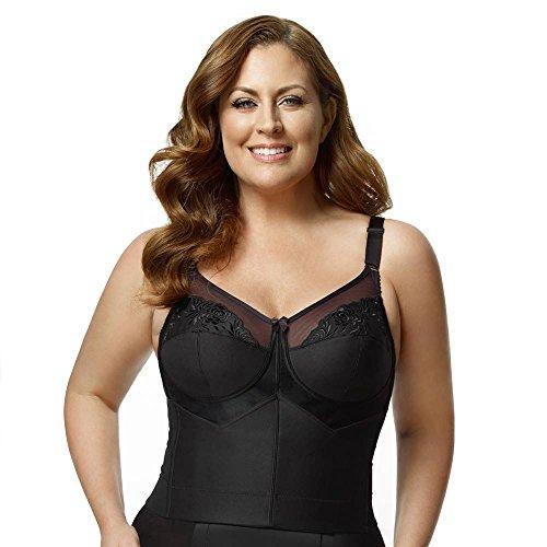b130144ae9ff8 Elila Women s Plus Size Back-Hook Longline Posture Bra