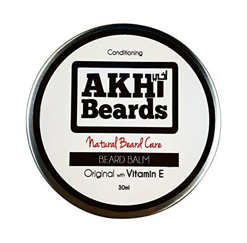 akhi barbas | Original barba Bálsamo con Vitamina E - condiciones, brilla & Hidrata. (30 ml) 100% natural libre de alcohol, animales y artificial ...