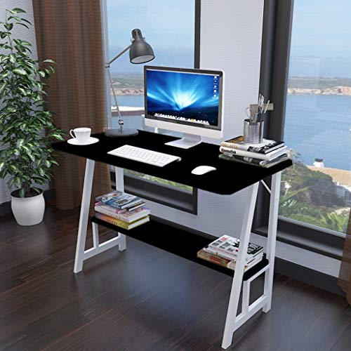 - Anewoneson Computer Desk with Bookshelf 2-Layer Study Table Modern Simple Style Student Desk/Laptop Holder for Study/Home Office/Bedrom/Living Room (Shipped from USA)